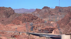 4K UHD Hoover damn road Nevada side seen from Arizona - stock footage