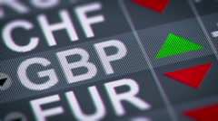 Indicator of change of an exchange rate. British pound, UP Stock Footage