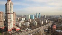 Aerial Moscow city panorama - 1 Stock Footage
