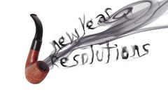 new year resolution pipe - stock photo