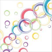 Abstract Circular Background - stock illustration