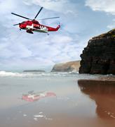 Air sea rescue coast search Stock Photos