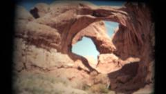 (1950's 8mm Vintage) Utah Arches 6 Clips Stock Footage