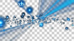 Document Extensions flying, shining, Alpha PNG Stock Footage