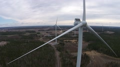windturbine closeup - stock footage