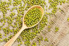Super foods clean eating dieting organic product mung beans - stock photo