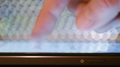 Close-Up Scrolling Through Messages On A Smart-Phone Stock Footage
