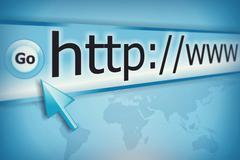 Internet address, computer screen Stock Illustration
