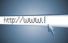 Web address, computer screen Stock Illustration