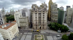 Flying over Sao Paulo Downtown, Brazil Stock Footage