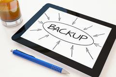 Backup Stock Illustration