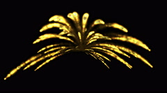 4k a group of missiles launched,Eruption of gold fire & fireworks,war scene. Stock Footage