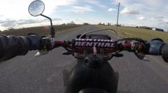 4k wheelie on motorcycle unique pov Stock Footage