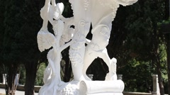 Stock Video Footage of Sculpture of Dionysus Outdoors.