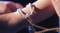 Ropes on hand Stock Footage