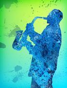 Jazzman - stock illustration