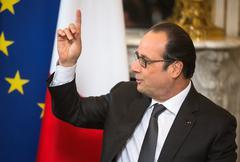 French President Francois Hollande - stock photo