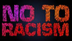 NO TO RACISM! Stock Footage