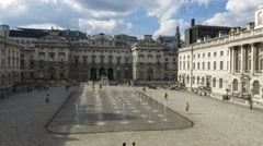 London court yard time lapse Stock Footage