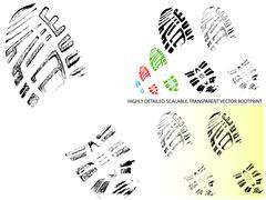 Mountain BootPrint - Highly detailed vector of a bootprint - stock illustration