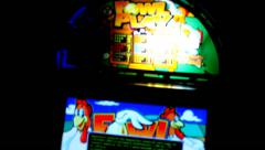 Slot machines hall fast spin editorial Stock Footage