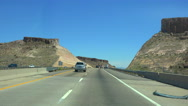 Stock Video Footage of 4K UHD  on the 40 Freeway through Kingman east 2