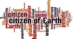 Citizen of Earth word cloud Stock Illustration