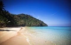 Untouched tropical beach, Thailand - stock photo