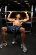 Incline Bench Press Lifting - stock photo