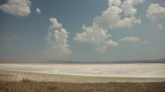 Stock Video Footage of Crimean Salty Lake, Time lapse.