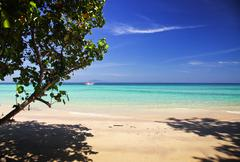 Untouched tropical beach, Thailand Stock Photos