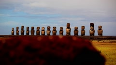 Easter Island Statues 06 HD - stock footage