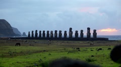 Easter Island Statues 09 HD - stock footage