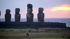 Easter Island Statues 11 HD - stock footage