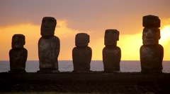 Easter Island Statues 12 HD Stock Footage