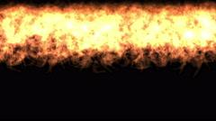 4k gold fire wall background,war scene,dazzling hellfire. Stock Footage