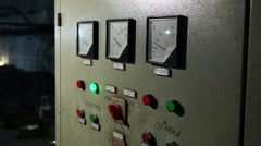 Power electric Cabinet with needle indicator and buttons. Stock Footage