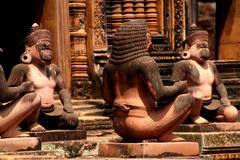 Monkey guardians - stock photo