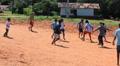 Brazilian indigenous kids playing soccer, Brazil Footage