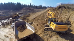 Dirt going in the beck of a truck  Stock Footage