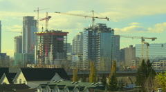 Time lapse of high rise apartment buidings under construction Stock Footage