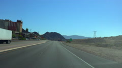 4K UHD Driving towards Hoover Dam 1 Stock Footage