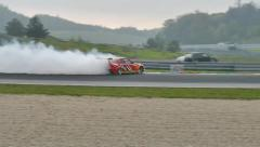 Slow motion Drifting car Stock Footage