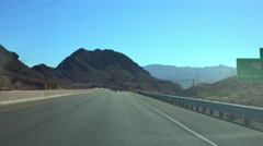 4K UHD Driving towards Hoover Dam offramp exit 2 Stock Footage