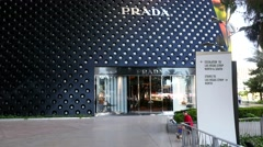 Las Vegas Prada Store Establishing Shot 4k Stock Footage