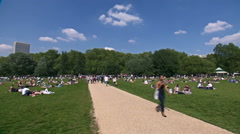 London Hyde park time lapse Stock Footage