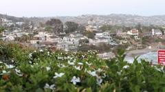 Laguna Beach City View, California Stock Footage