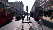 Stock Video Footage of London city traffic time lapse