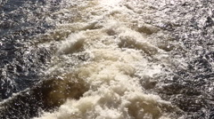 Rushing Water with White Foam and sound Stock Footage