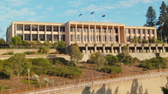 Morning at Parliament House in Perth, Western Australia Stock Footage